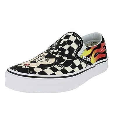 fc9324e462 Vans Mens U Clasic Slip ON (Disney) Mickey   Minnie Checker Flame Size 10.5