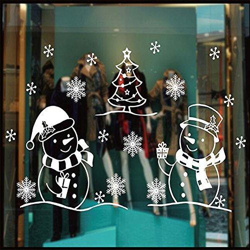 D&D Merry Christmas Decorations Window Clings Decal Stickers, Static Electricity Wall, Used on Glass Windows, Wall, Ceramic Tile, Furniture for Home and Office (XD-03)
