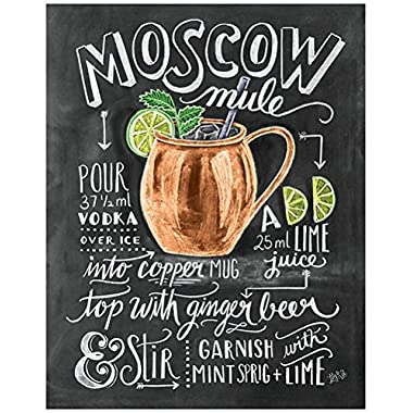 Scoutmob Gifts Moscow Mule Recipe Chalkboard Art Print