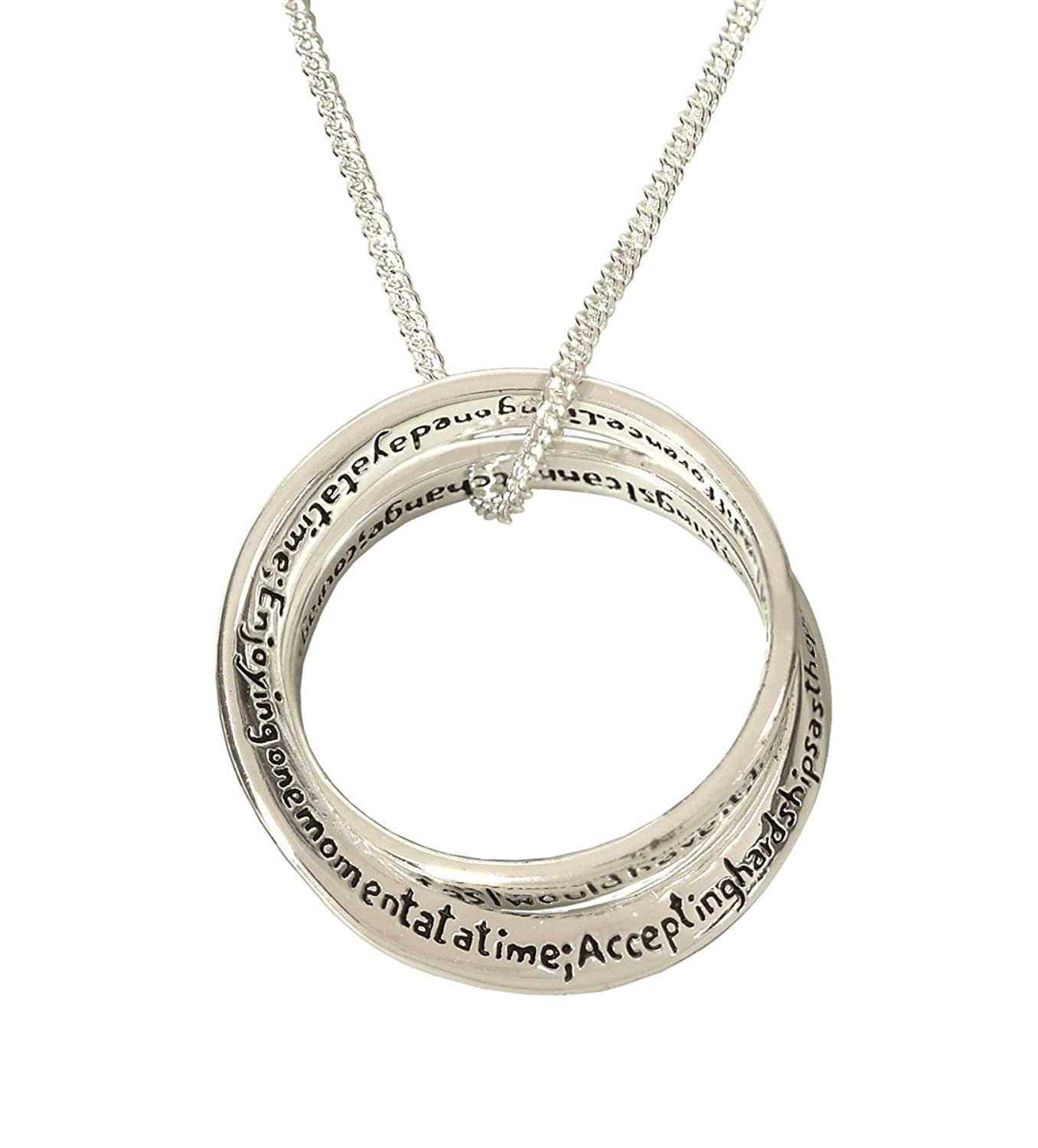 tag lord religion stainless steel oval an prayer on serenity pendant engraved necklace beautiful itm god