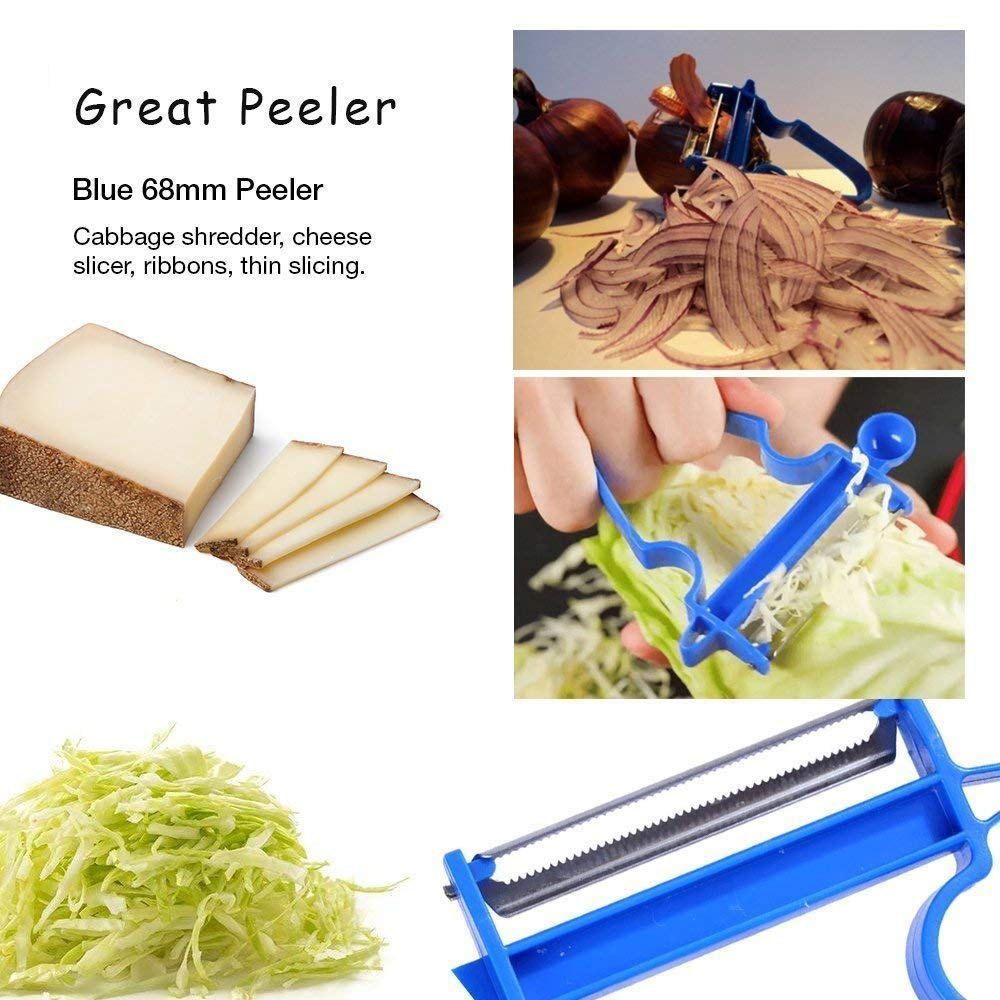 Magic Trio Peeler[2018 NEW], 3-Piece Fruit & Vegetable Peeler Set, Multifunctional Kitchen Tools for Potatoes/Carrots/Apples/Oranges/Cabbage and Other Vegetables & Fruits by Swelt (Image #4)