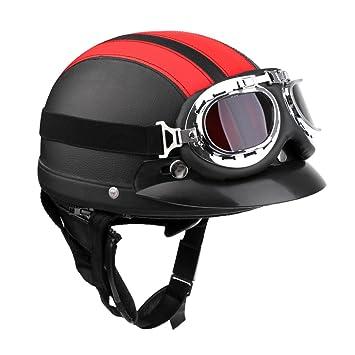 MagiDeal Casco con Visera Seguridad Moto Motocicletas Bicicleta Protector Principal Ciclismo - Rojo Negro: Amazon.es: Juguetes y juegos
