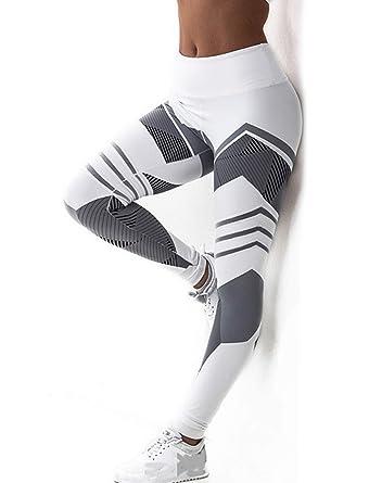 aa1eaecb849dbf SEASUM Women 3D Printed Leggings Sports Gym Yoga Workout High Waist Running  Pants Causual Fitness Tights