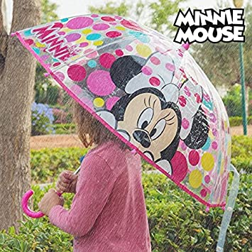 Paraguas Transparente Burbuja Minnie