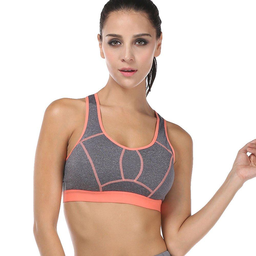 Yvette Damen High Impact Yoga Lauf Sport-BH #070143-Schnell Trocken/Racerback