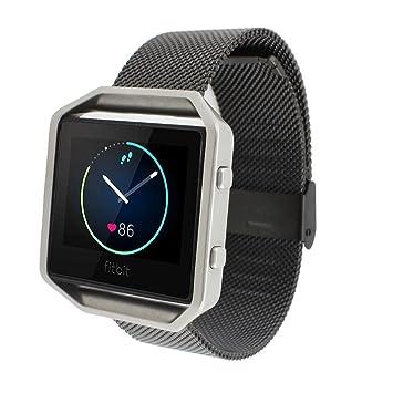 Fitbit Blaze Banda de Reloj, FOTOWELT Milanese de Acero Inoxidable de Metal de Alta Calidad Reloj Banda Correa de Pulsera para Fitbit Blaze Smart Watch: ...