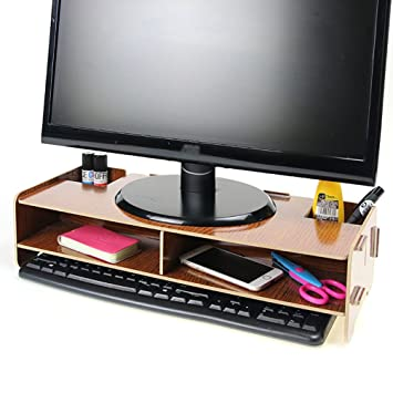 Menú vida TV/ordenador Monitor aumentar soporte de madera de escritorio Universal Dock Soporte Soporte