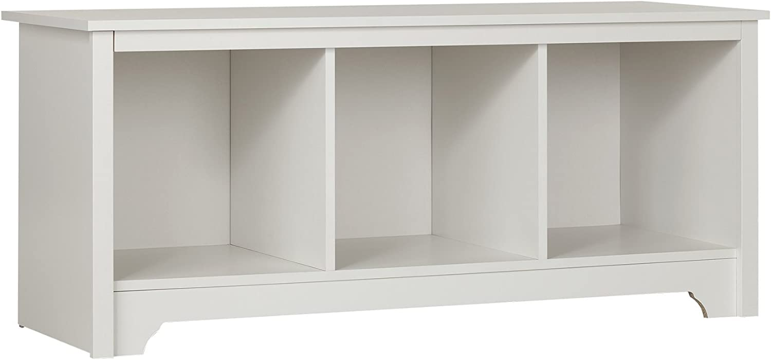 South Shore Entryway Cubby Storage Bench, Pure White