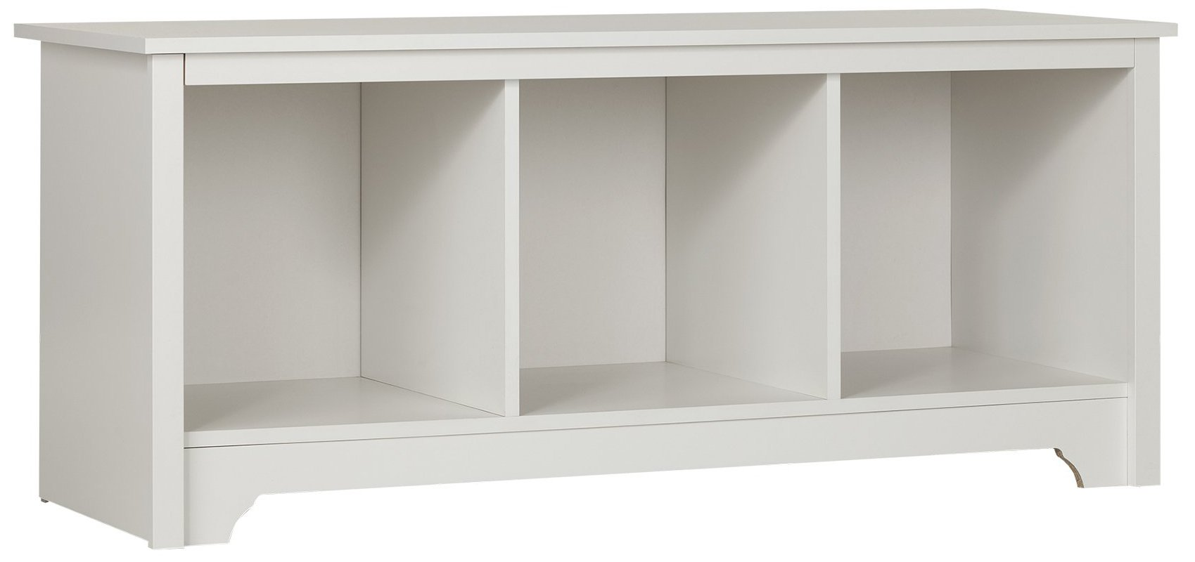 South Shore Entryway Cubby Storage Bench, Pure White by South Shore