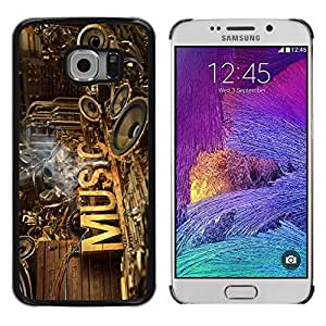 Be Good Phone Accessory // Dura Cáscara cubierta Protectora Caso Carcasa Funda de Protección para Samsung Galaxy S6 EDGE SM-G925 // Music Speakers Art Love Rustic Band