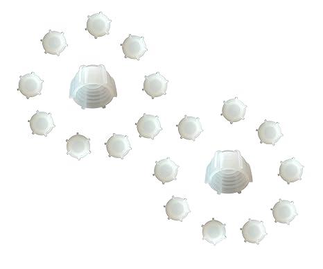 Kartuschenverschlusskappe 20 STÜCK Verschlusskappe für Kartuschen, Kartuschenverschluss mit Grobgewinde Schraubkappe Silikon
