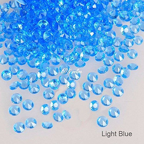 5000 Diamond Scatter Crystals Confetti Wedding Table Decoration 2 Mixed Sizes LIGHT BLUE EOK online
