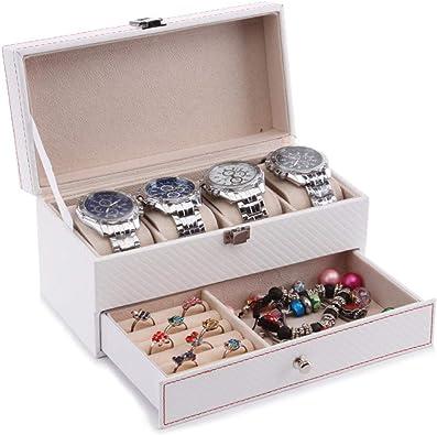 FIONAT Caja Relojes Reloj Doble Caja De Organización De ...