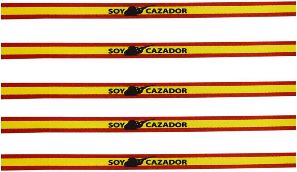 ALBERO Pack 5 Pulseras Soy Cazador con Bandera de España ...