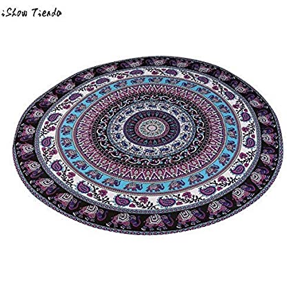 Amazon.com: Assyrian Round Beach Pool Home Shower Towel ...