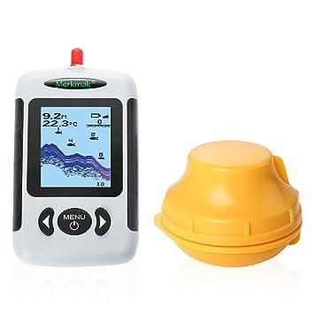 Uverbon - Detector de Peces inalámbrico Portátil DE 40 m de Profundidad Sonar con Alarma de Soporte, Lago del Río Océano: Amazon.es: Deportes y aire libre