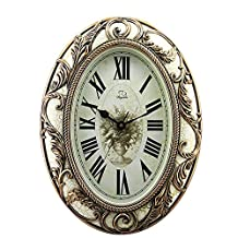 GAOHL PVC Quartz Wall Clock Style Living Room Silent Classic Wall Mount Table 42.5*57*6.5CM , white