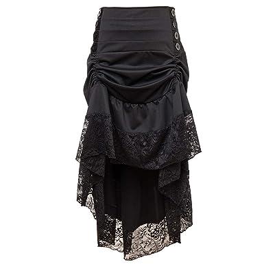 Amphia - Falda para Mujer, Estilo Steampunk gótico, Falda Larga de ...