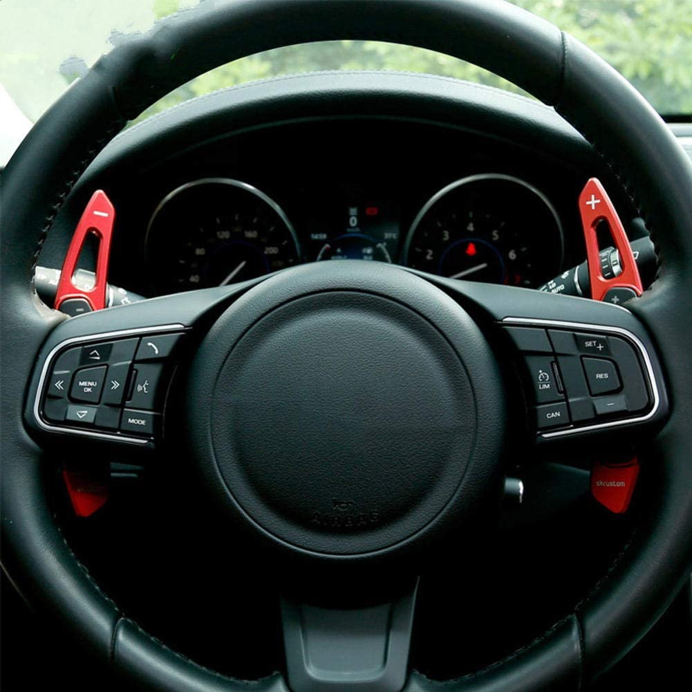 AODHXZ Aluminum Alloy car Shift Paddle Extension Plate Auto Parts,for Jaguar XF//XFL XE//XEL XJ F-PACE E-PACE
