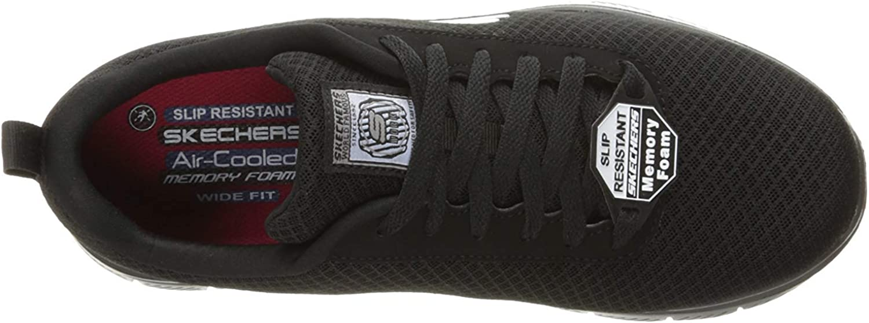 Skechers Mens Flex Advantage Soft Toe Lace Up Safety Shoes Black