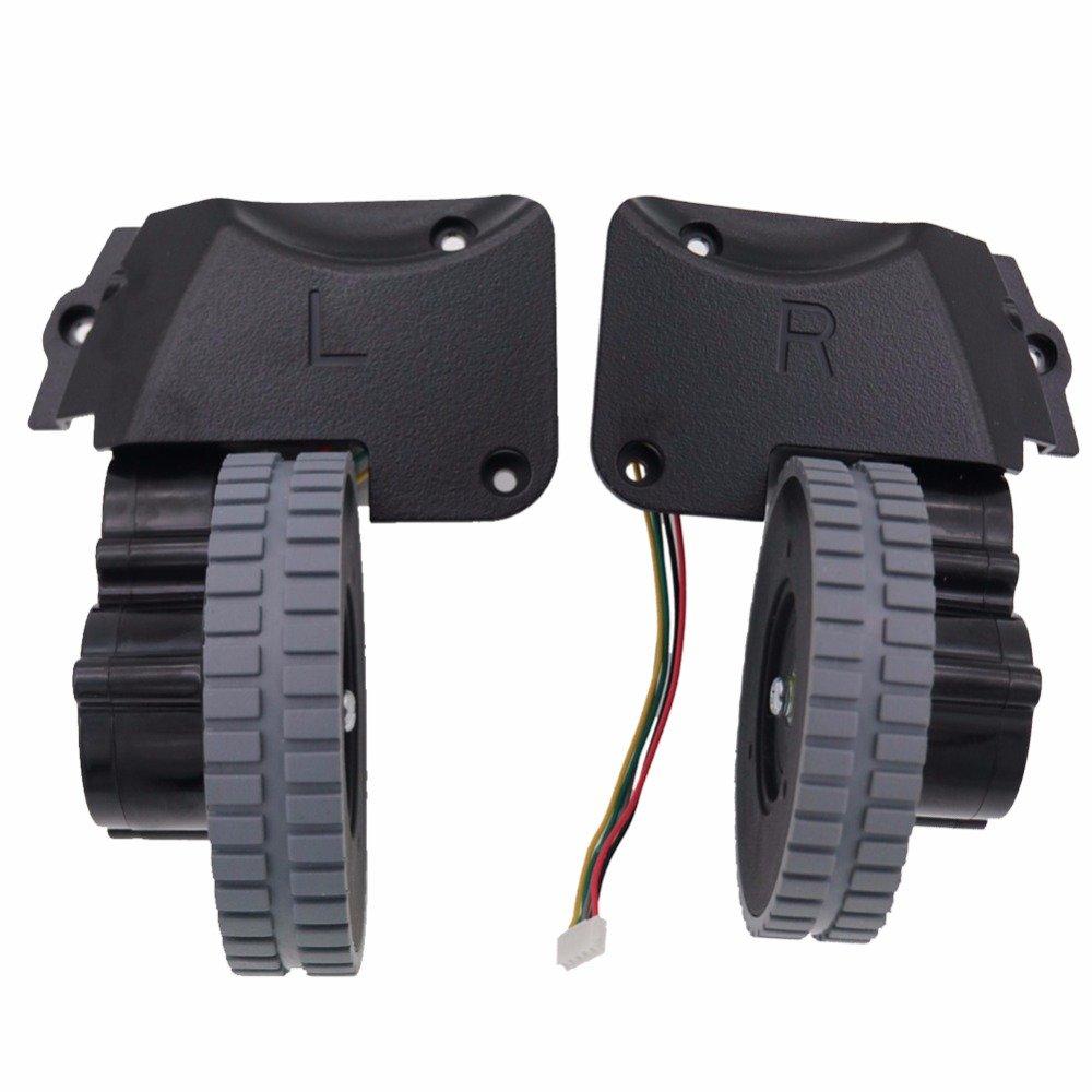 YTT For ILife A4 A4S wheel (izquierda + derecha) piezas robot aspiradora aspirador incluyen motor