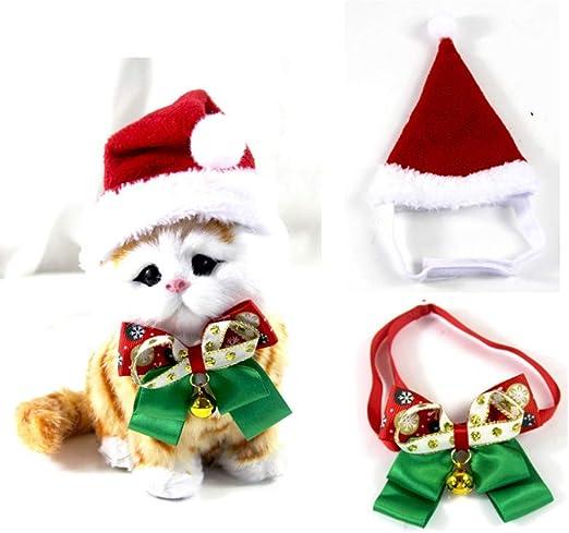 kungfu Mall Disfraces de Navidad para Mascotas Sombrero de Santa y ...