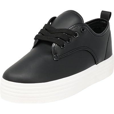 Cambridge Select Women's Round Toe Lace-up Low Top White Sole Platform Flatform Fashion Sneaker | Shoes
