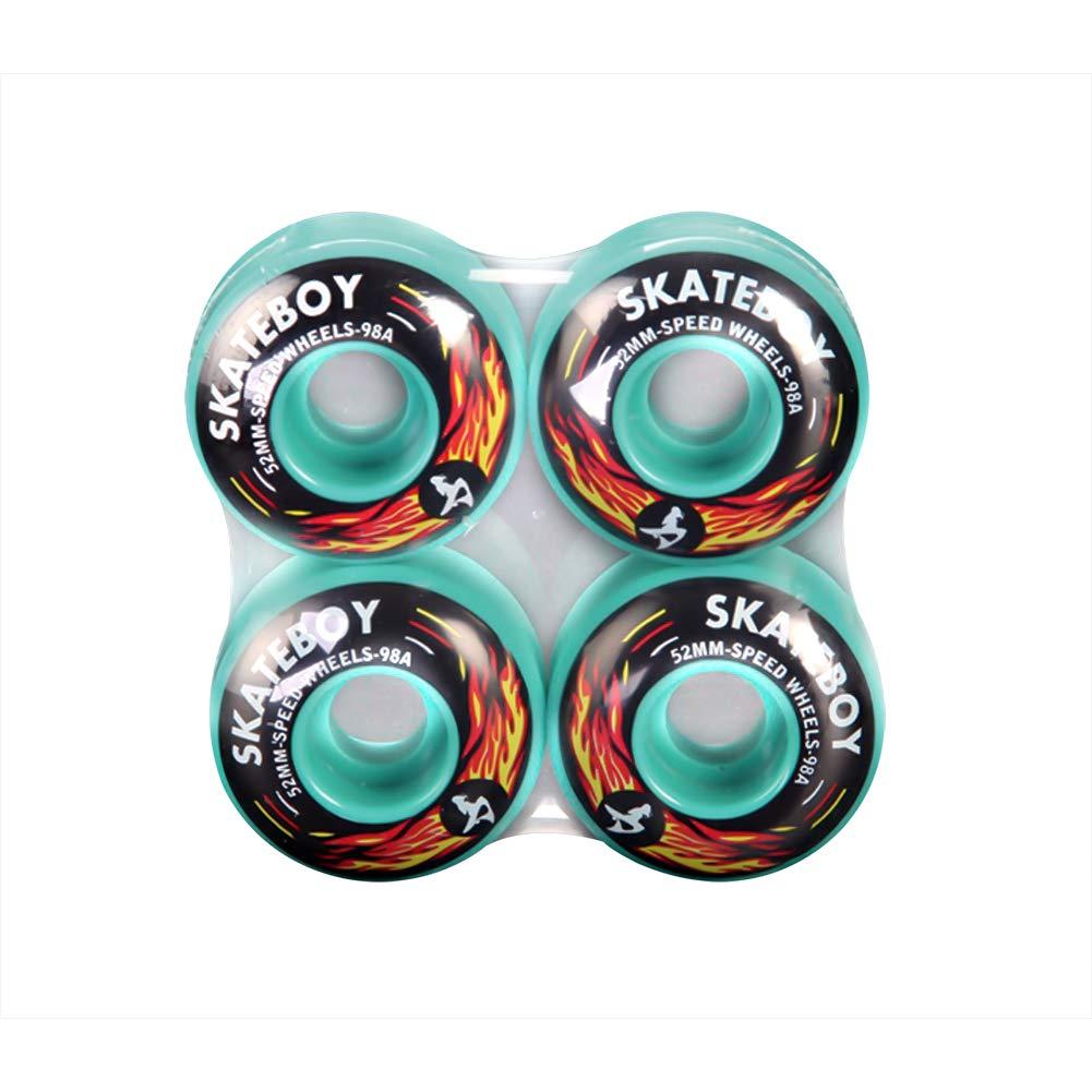Loadshine ロングボードスケートボードホイール 52mm 53mm (4個セット) 52mm グリーン B07GKR8LP6