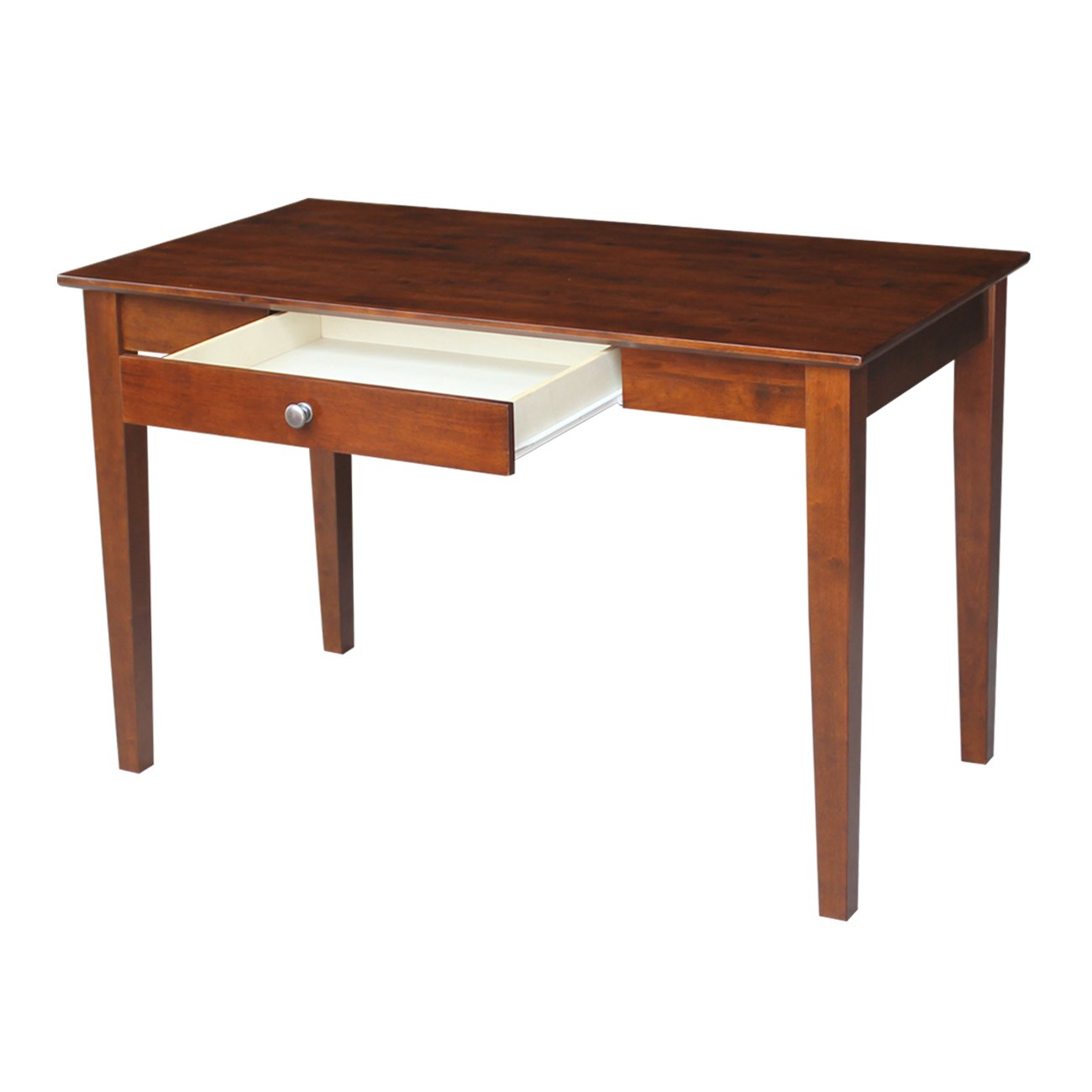 International Concepts Basic Desk with Drawer, Espresso Finish