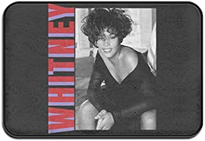 Sunny Rainy Day Whitney Houston Entrance Door Mat, Winter Outdoor Front Rug, Non-Slip Welcome Door Mat for Entrance, Terrace.