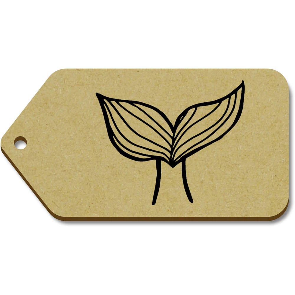 Azeeda 10 x Grand 'Queue de Sirène' etiquettes de Bagage / Cadeau en Bois (TG00069184)