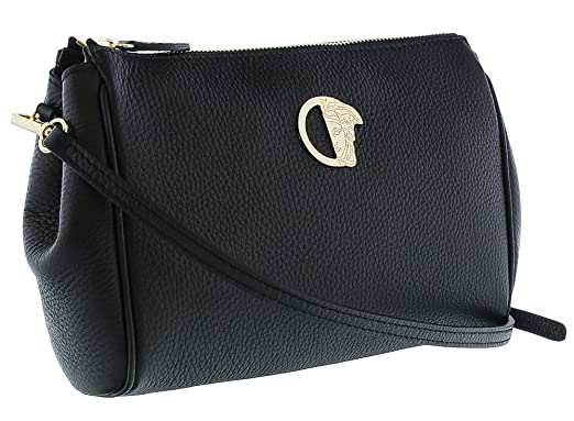 Amazon.com  Versace Collection Women Leather Medusa Crossbody ... 64c068f51a00c