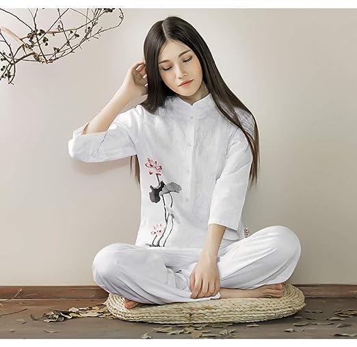 Traje De Meditación Zen para Mujer Uniforme De Tai Chi Ropa ...