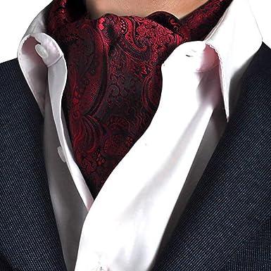 STTLZMC Corbatas para Hombre Paisley Jacquard Floral Seda ...
