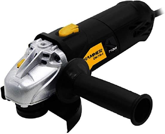 Esmerilhadeira Angular De 4.1/2 Pol. 710w Hammer 127V Preto - GYEM7101_110