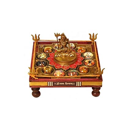 Amazon com: Indikart Export 12 Jyotirling Shiva Yantra Chowki: Home