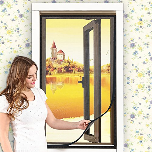 Window Screen—DIY Customizable Adjustable Fiber Glass Magnetic Screen Window Mesh Mosquito Net with Sticky Velcro (DIY Screen UP TO 39