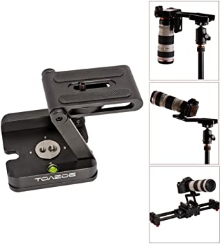 Z Type Foldable Desktop Stand Holder Tripod Flex Pan/&Tilt with Ball Head Compatible Slide Rail Camera Camcorder Tripod with 1//4 and 3//8 Thread for Canon Nikon Sony Pentax