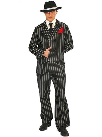 Guirca - Disfraz de mafioso para hombre, talla 50-54