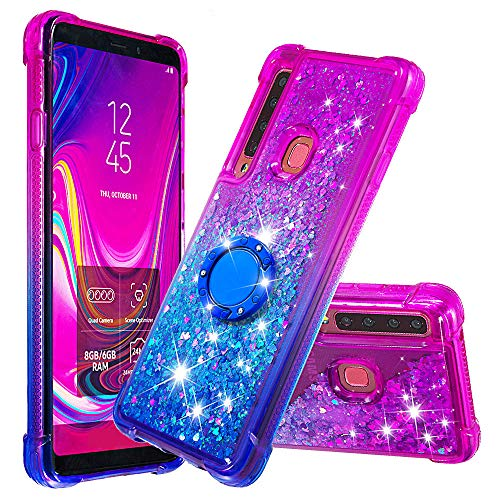 NEXCURIO Glitter Silicone Case for Galaxy A9 (2018), Shockproof Anti-Scratch Shock Absorption Protective Cover Case for Samsung Galaxy A9 2018 - NEYBO480080 Ring #4