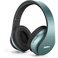 Bluetooth Headphones,TUINYO Wireless Headphones Over Ear with Microphone, Foldable & Lightweight Stereo Wireless Headset…