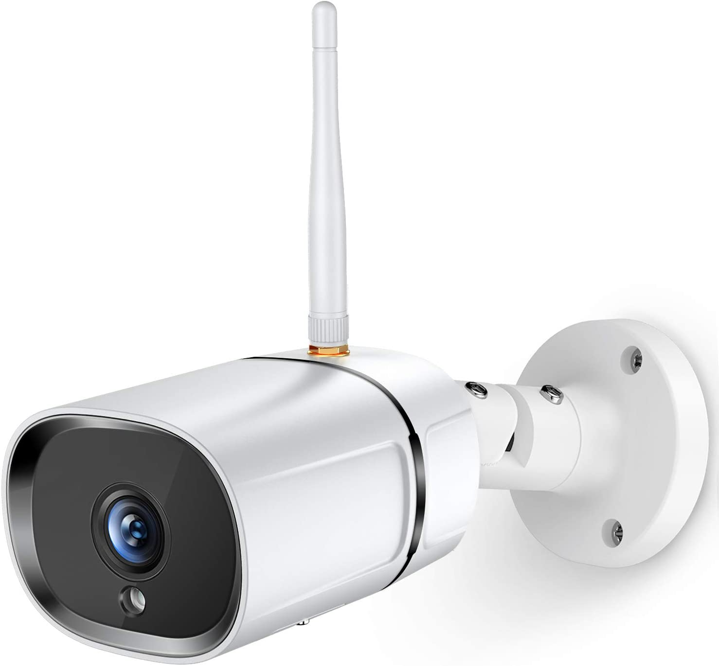 Security Camera Outdoor, WiFi Camera Waterproof Home Security Camera 1080P IP Surveillance Camera with Night Vision, Two-Way Audio Motion Detection, Works with Alexa & Google Home, TuyaSmart Phone APP