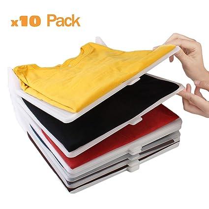 Organizador de camisetas, ropa, armario. Resistente y 100% reciclable. Antihumedad y Antiarrugas. Organiza camisas, cajoneras, estanterías, armarios. ...