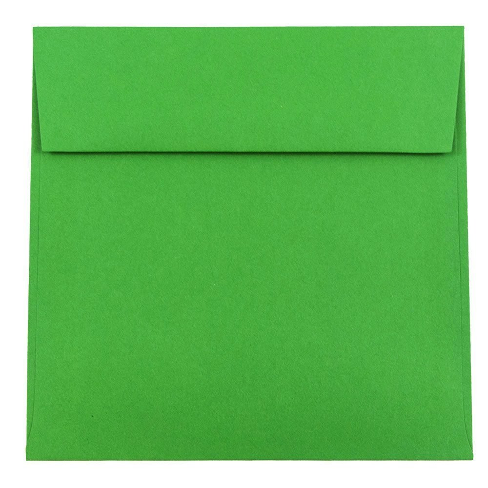 JAM Paper 6.5'' x 6.5'' Square Invitation Envelopes - Green - 1000/carton