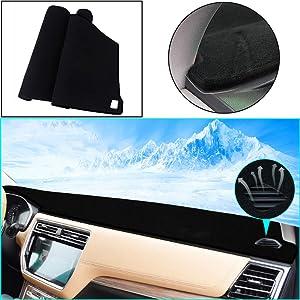 Custom Dashboard Mat for Toyota Highlander Dash Cover Mat Non-Slip Sun Shade Pad Dash Protector Black