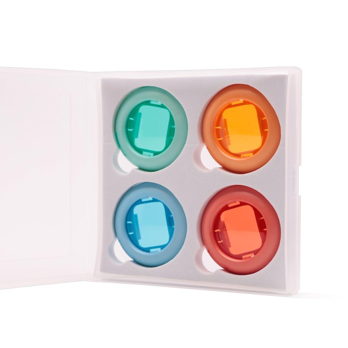 ハローへロリ FUJIFILM インスタントハローキティカメラ チェキ カラー接写レンズ Instax Mini7S/ Instax Mini 8/8+/ Poloroid PIC 300専用接写レンズ 4個セット(赤、青、黄、緑)-虹色  虹色 B01M5HMZCR