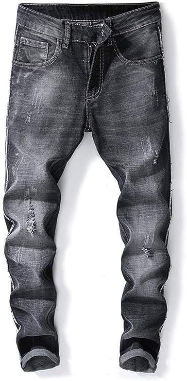 Pantalones Vaqueros Para Hombre Casuales Moda Pantalones Vaqueros Rotos Hombre Jeans Trend Largo Pantalones Pants Skinny Pantalon Ropa Fitness Hombre Jeans Elasticos Largos Pantalones Vpass Amazon Es Ropa Y Accesorios