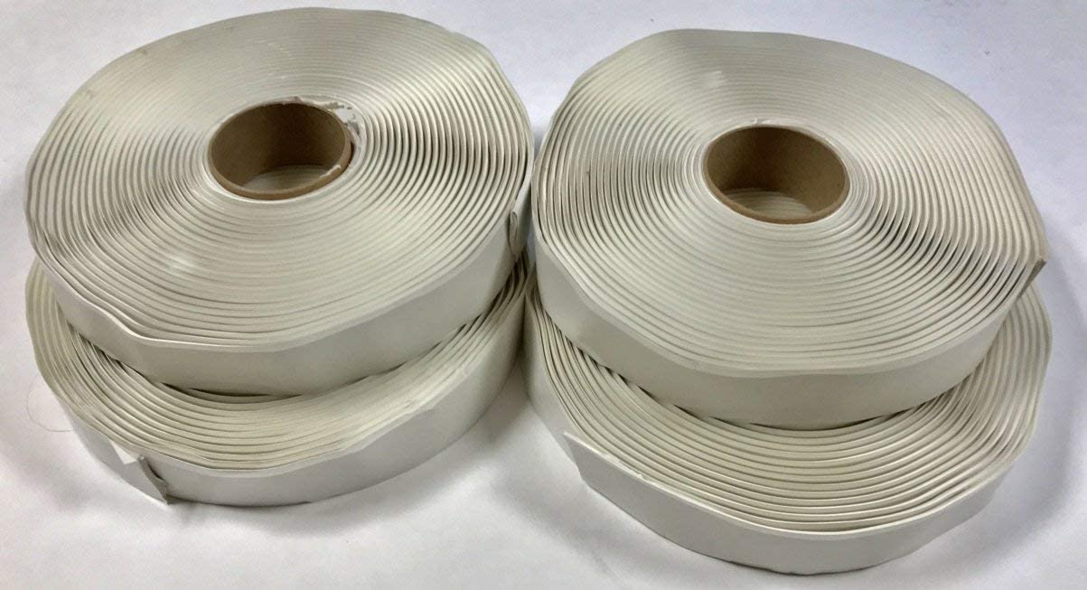 White Butyl Tape 1/8 inch x 1 inch x 30 feet for RV/Mobile Home (4-Pack)