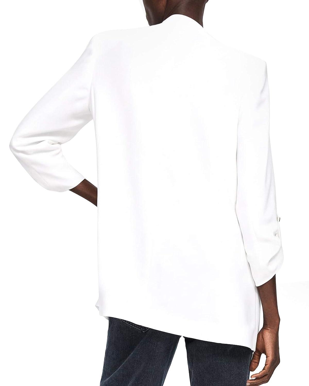 35652232 Zara Women's Blazer with Lapel 2122/583 White: Amazon.co.uk: Clothing
