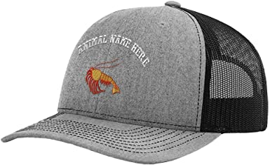 Custom Trucker Hat Richardson Crayfish Embroidery Animal Name Cotton Snaps